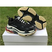 BALENCIAGA Triple S Men and Women Black SNEAKER TRAINER Shoes