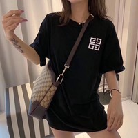 """""""Givenchy"""" Women All-match Classic Letter Print Short Sleeve T-shirt Top Tee"""
