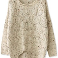 Favorite High-Low Cable Sweater - OASAP.com