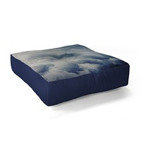 Leah Flores Clouds 1 Floor Pillow Square