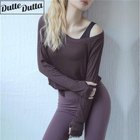 Workout Tops For Women Long Sleeve Yoga Top Running Fitness Shirts Sports Yoga T-shirts Fitness Gym Shirt Women Active Wear