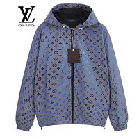 LV Louis Vuitton Reflective Hooded Zipper Cardigan Sweatshirt Jacket Coat Windbreaker Sportswear