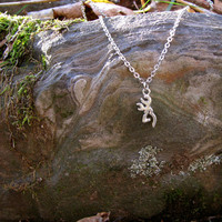Silver Browning Necklace, Country Girl Necklace, Country Girl Jewelry