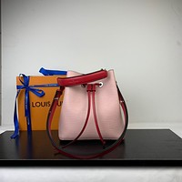 LV Louis Vuitton OFFICE QUALITY EPI LEATHER NEONOE BUCKET SHOULDER BAG