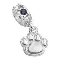 Dayna U Penn State Nittany Lions Sterling Silver Crystal Logo Charm (Blue)