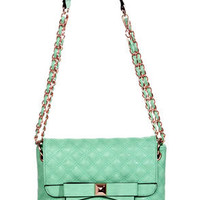 Seven Year Stitch Quilted Mint Purse