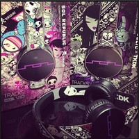 Sol Republic Purple Tokidoki HD Tracks Headphones : High Quality Over-Ear Headphones