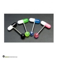 Pill Tongue Ring | Many Colors | UrbanBodyJewelry.com