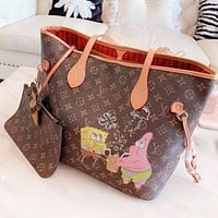Louis Vuitton LV Fashion New Monogram SpongeBob Print Shoulder Bag Women Two Piece Suit