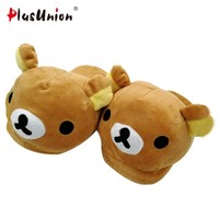 NEW ARRIVALS plush flat indoor cartoon flock adult furry slippers fluffy winter fur animal shoes