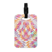 "Alison Coxon ""Summer Fern"" Pink Orange Decorative Luggage Tag"