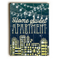 Home Sweet Apartment by Artist Jenndalyn Wood Sign