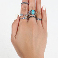 Boho Babe Rings Set
