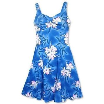 poipu blue hawaiian molokini short dress