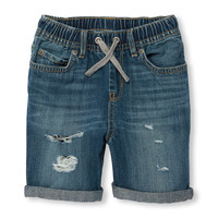 Boys Pull-On Destructed Denim Shorts | The Children's Place
