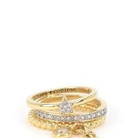 Charmy Stacking Ring Set by Juicy Couture