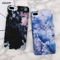 USLION Luxury Marble Pattern Phone Case For iPhone 7 6 6s Plus Colorful Ultraslim Hard PC Cases Back Cover Capa For iPhone7 Plus