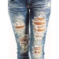 Distressed/Frayed JeansSend me your jeans by SheaBoutique on Etsy