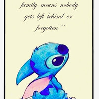 Lilo & Stitch Skin Ohana Family Behind Forgotten Cursive Case For iphone 4 4s 5 5s 5c 6 6S 6plus 6S PLUS