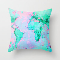 Wanderlust Throw Pillow by Ally Coxon | Society6