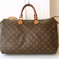 Authentic Louis Vuitton Monogram Speedy 40 Tote Vintage Handbag France
