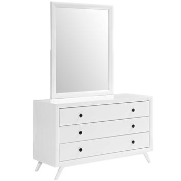 Tracy Dresser and Mirror White MOD-5310-WHI-SET