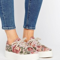 ASOS DAY Flatform Canvas Sneakers at asos.com