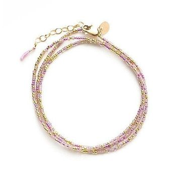 """Tess and Tricia """"Spicy"""" Little Lovelies Triple Wrap Bracelet"""