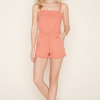 Crochet-Trim Romper