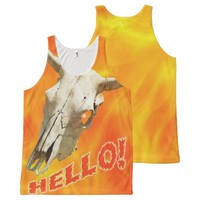 Cow skull - Hello! All-Over Print Tank Top