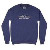 Coordinates Reggie Sweatshirt in Navy Triblend by Waters Bluff
