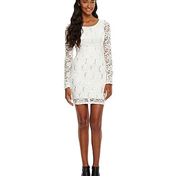 Honey and Rosie Sequin Lace Dress | Dillards.com