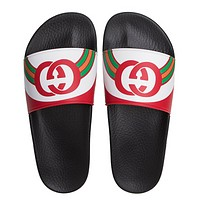 GUCCI New fashion letter print slippers flip flop shoes