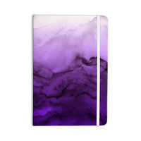 "Ebi Emporium ""Winter Waves 9"" Purple Abstract Everything Notebook"