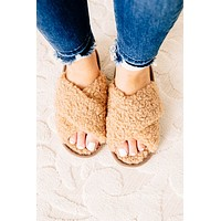 Teddy Sherpa Criss Cross Slippers