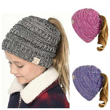 Youth Pepper 2 tone Beanie Tail