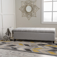Sterling Fabric Tufted Storage Ottoman