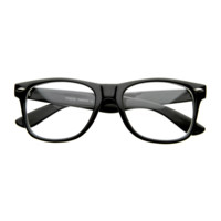 NWT RETRO CLASSIC CLEAR LENS GLASSES HORN RIMMED NEWTON SMART STYLE SQUARE FRAME