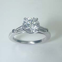 2.26ct H-SI2 Round Diamond Engagement Ring 18kt white Gold GIA certified JEWELFORME BLUE