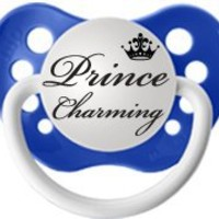 Personalized Pacifiers Prince Charming Pacifier in Blue