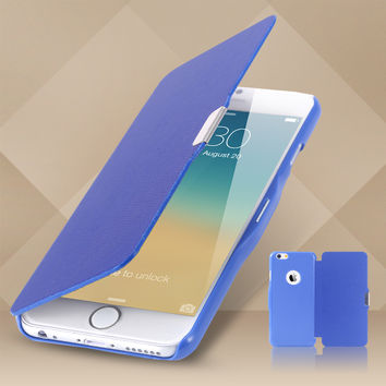 Leather Flip Case For Apple Iphone 6 I6 4.7''