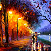 Alley By The Lake - oil painting by Leonid Afremov