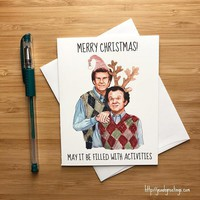 Step Brothers Will Ferrell John Reilly Funny Christmas Card Holiday Card FREE SHIPPING