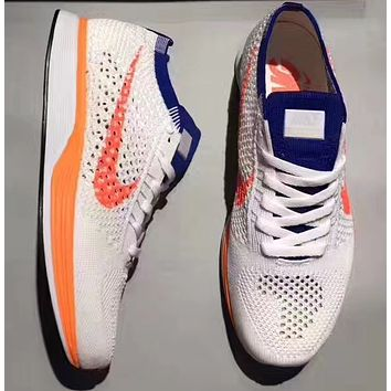 """""""NIKE""""Flyknit Racer Fly line fashion casual running shoes"""