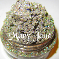Mary Jane New Green Magic Silver Glitter Natural Mineral Eyeshadow Mica Pigment 5 Grams Lumikki Cosmetics