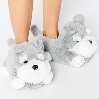 New Look Novelty Dog Slippers