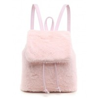 SPICE UP YA LIFE PINK FAUX FUR BACKPACK LAMODA