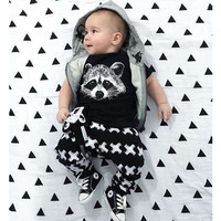Baby&Kids Fox Cotton Clothing Sets Newborn Toddler Baby Girl Boy 2 Pcs Outfits Set Costume Summer Clothes BodySuit T-shirt Pants