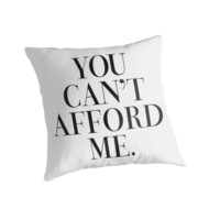 You can't afford me Vogue Typography