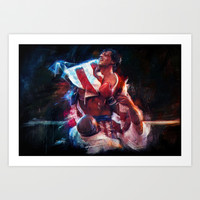 The win of my life is you Adrian! Art Print by Emiliano Morciano (Ateyo)